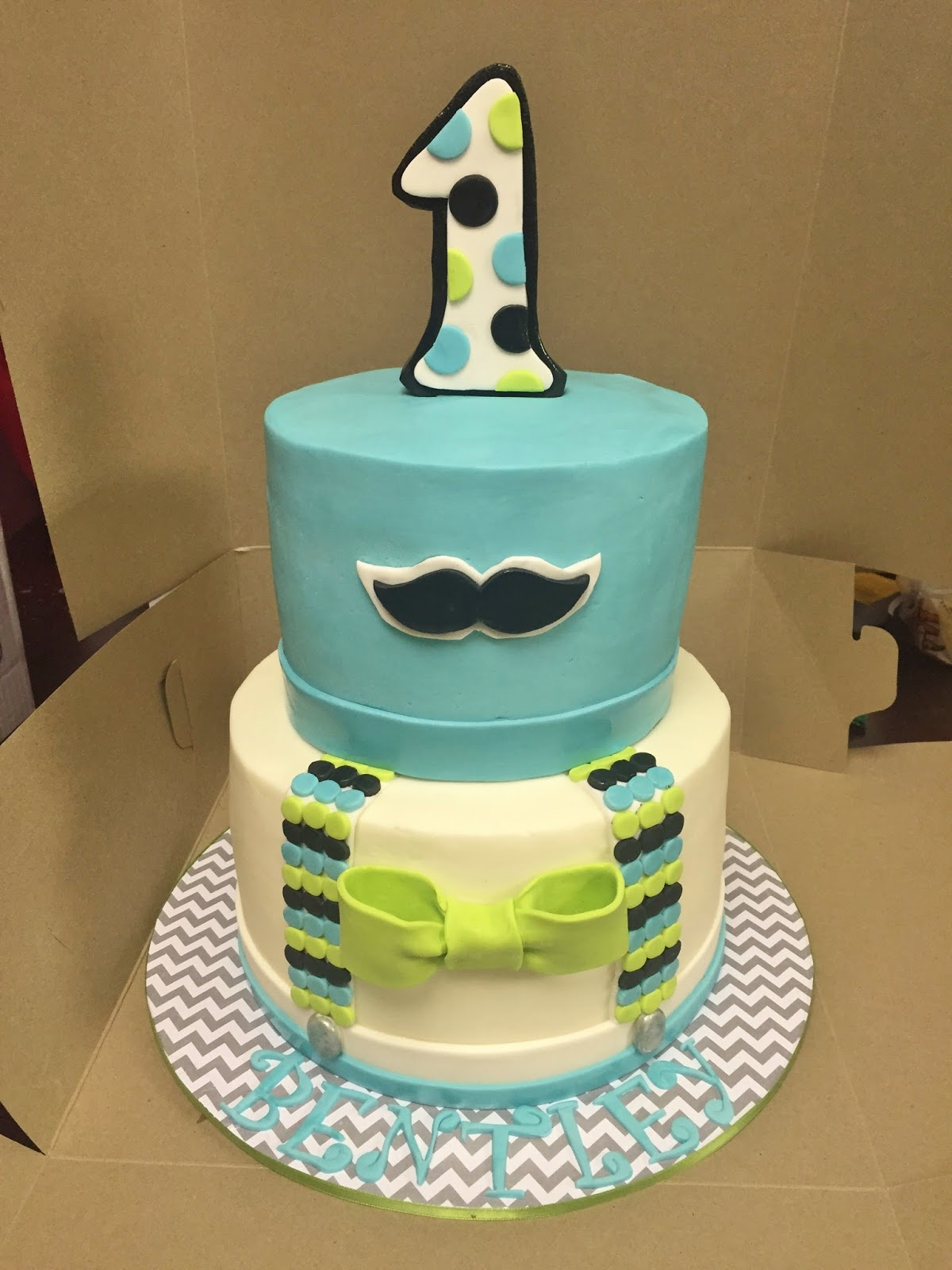 Cakes By Mindy Little Man First Birthday Cake 6 8