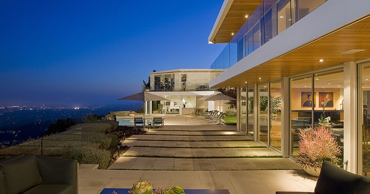 Architecture Hollywood Villas Modern Multi Million Mansion On Sunset