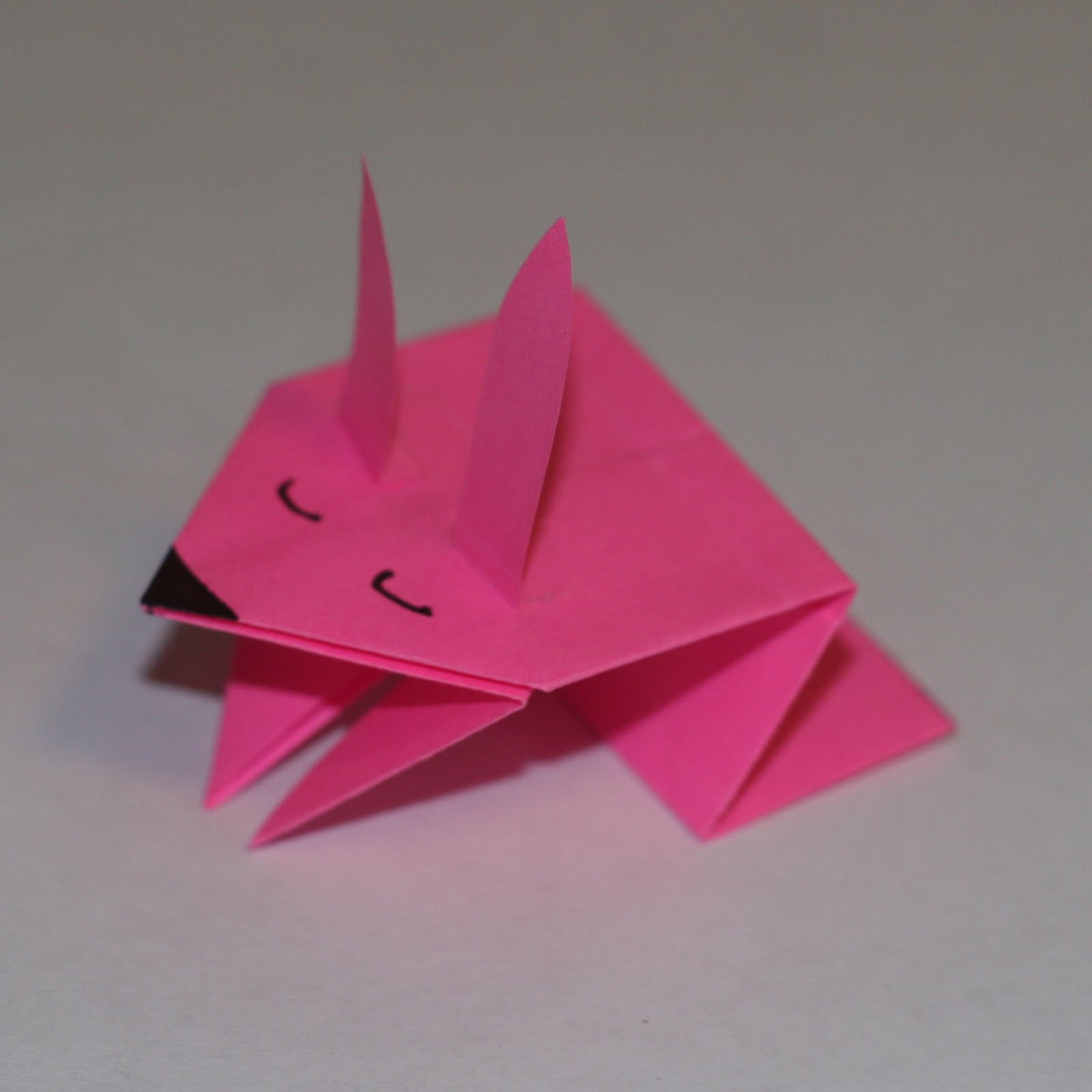 Easy origami easter bunny