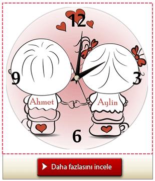 Kişiye Özel Sonsuz Aşk Saati