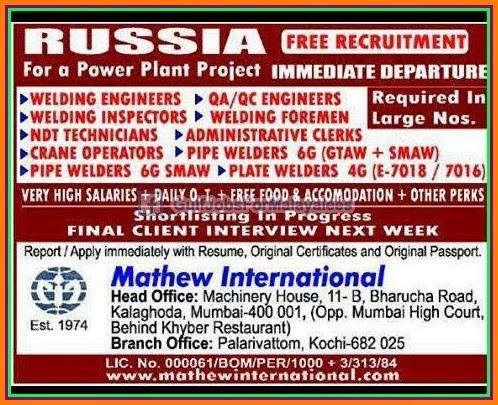 Russian oil jobs recruitment search resume