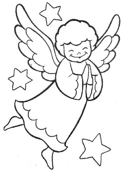 Free Printable Angel Coloring For Your Kids title=