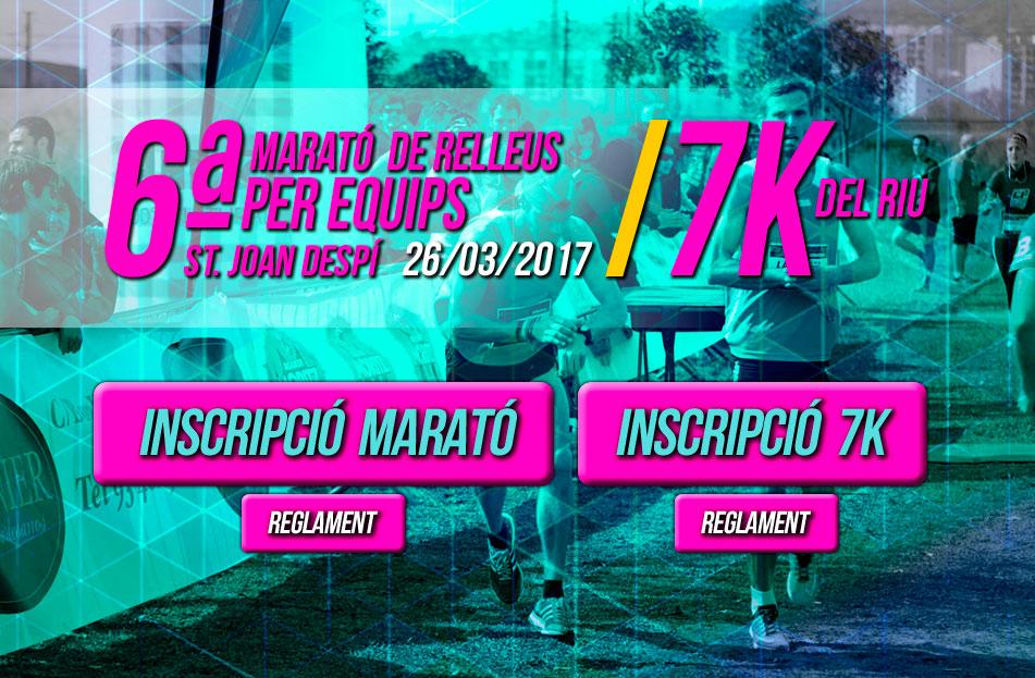 Marató de Relleus+ 7km del Riu'17 Sant Joan Despí (26.03.17)