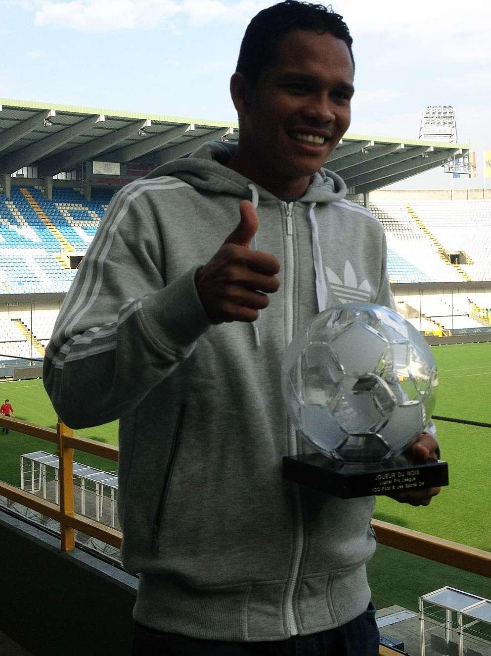 Carlos Bacca, el mejor jugador del fútbol Belga