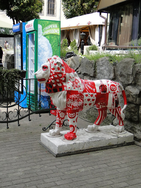 Lion is the symbol of Lviv, West Ukraine