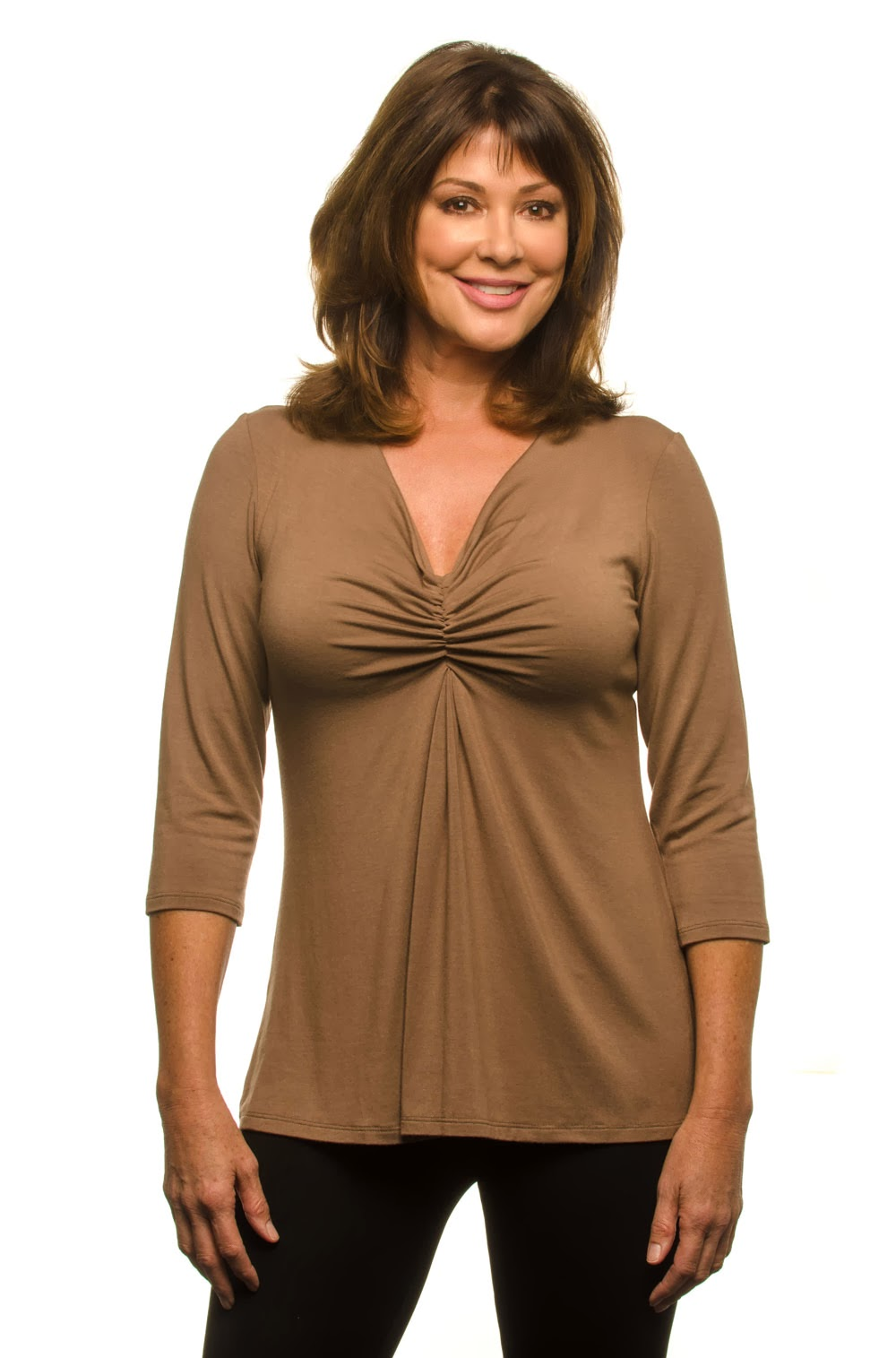 flattering tops for women over 40