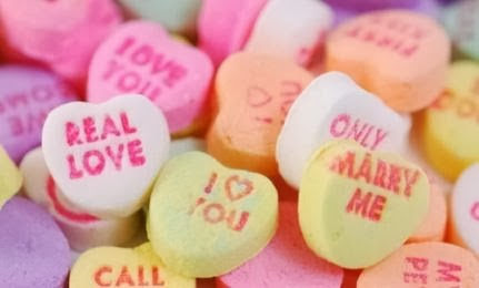 Seven Things Not To Do on Valentine's Day- marry me real love hearts candy