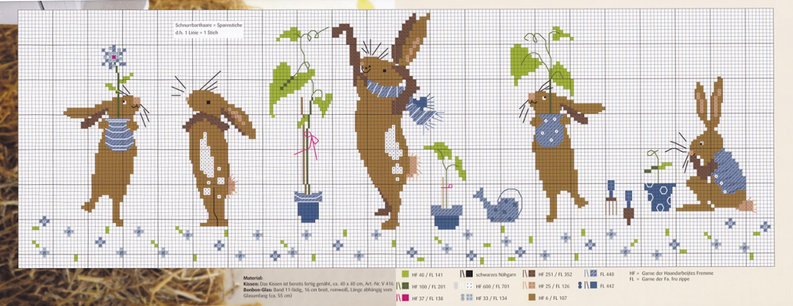 Вышивка крестом схема зайца 47