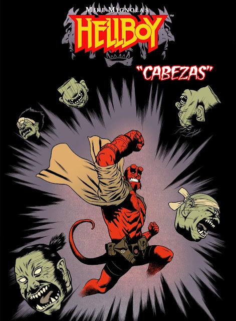 Portada de Hellboy Cabezas custom