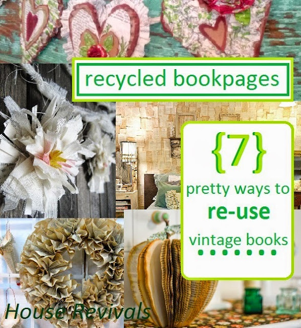 Here is a collection of seven projects made from vintage for How to reuse old books
