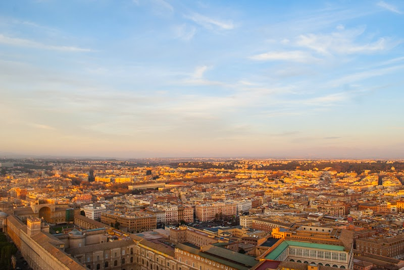 Aerial view of rome from the vatican