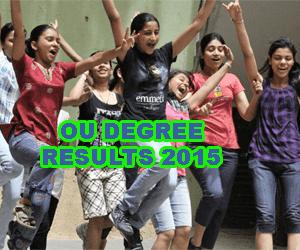 Osmania University Degree Results 2015, Manabadi OU Degree Results 2015, OU Degree 2015 Results Today, OU Degree Result 2015, OU BCom Results 2015, OU BA Results 2015, OU BSc Results 2015, OU Degree Results 2015 Manabadi