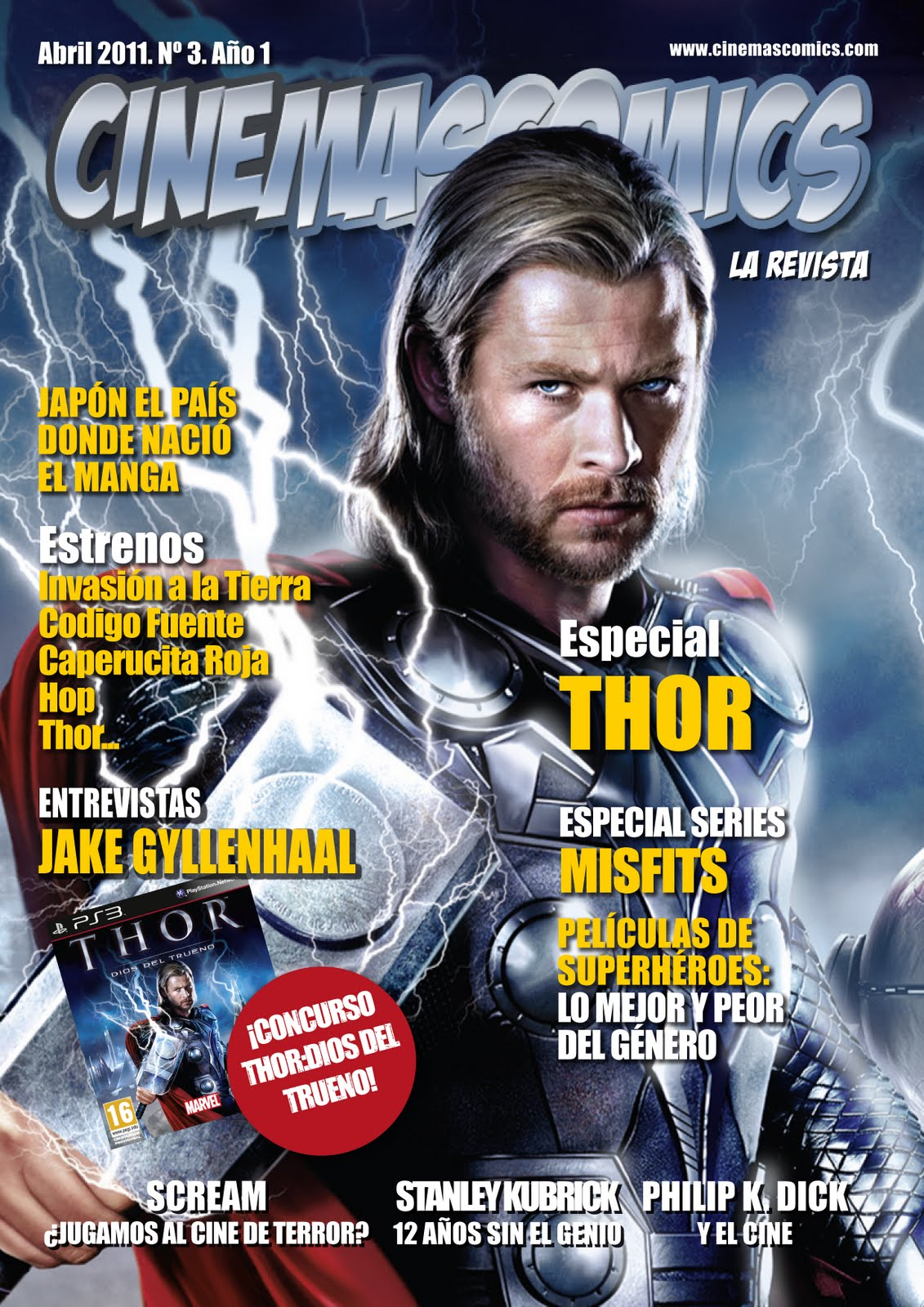 Revista: CinemasComics No. 3 (Abril - 2011) [73 MB | PDF | Español]