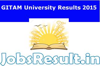 GITAM University Results 2015