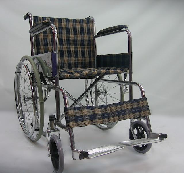 Kerusi roda chrome 电渡轮椅 Chrome wheelchair
