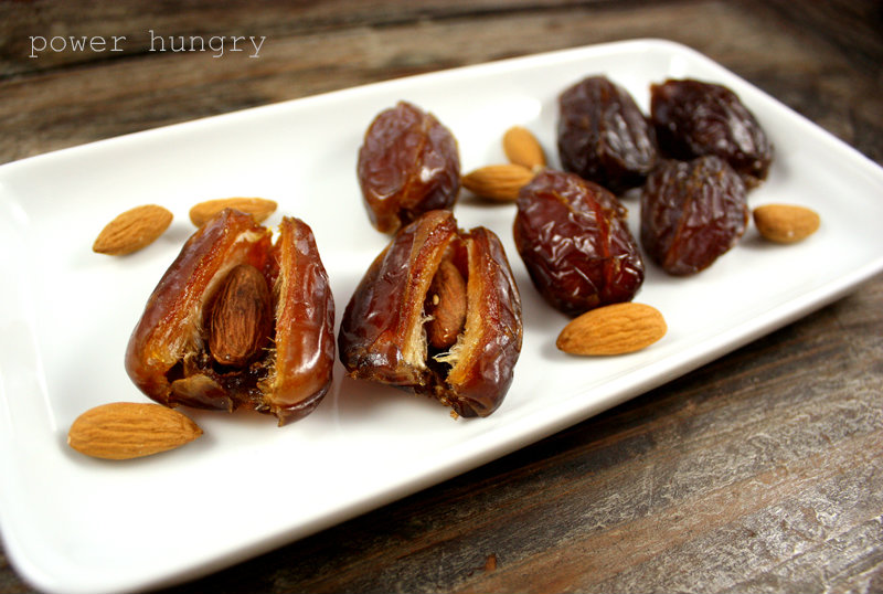 Almond Butter-Stuffed Dates | power hungry