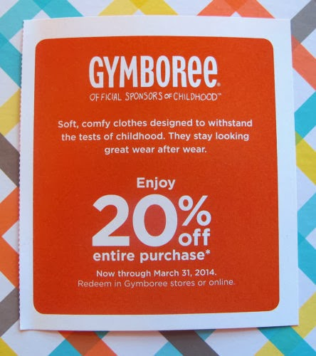 Gymboree 20 coupon november 2018