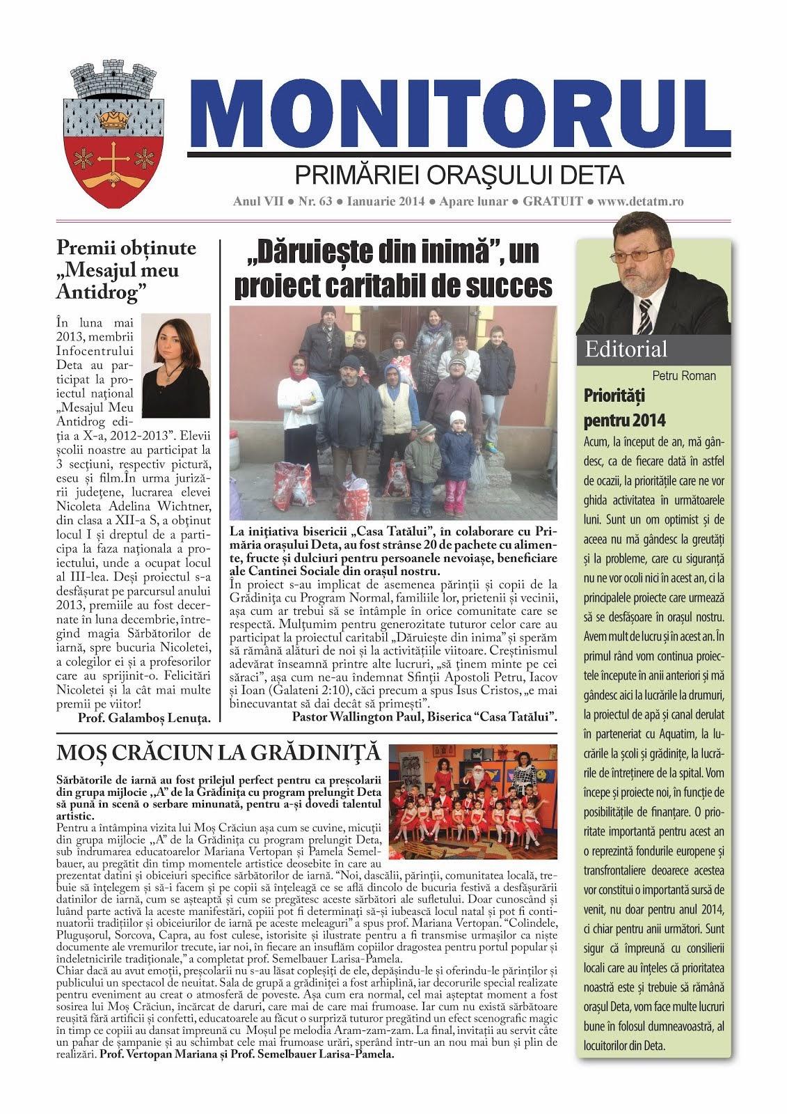 Monitorul - ianuarie 2014