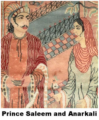 saleem and anarkali It is now believed that nadira begum (named anarkali due to her red  years  after prince salim ascended the throne as emperor jahangir.
