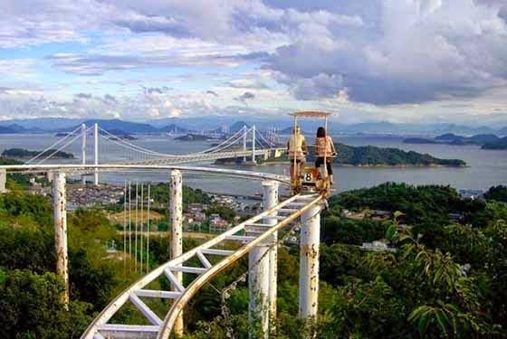 Skycycle Roller Coaster Di Jepun Yang Menggunakan Konsep Kayuhan Seperti Basikal 8 Gambar