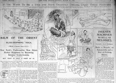 Article about yoga, New York Herald, March 27, 1898