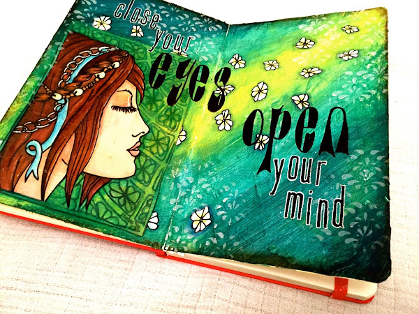 Art Journal Page - Close Your Eyes...