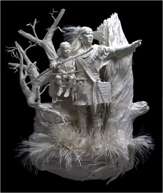 Artodyssey allen and patty eckman paper sculptures
