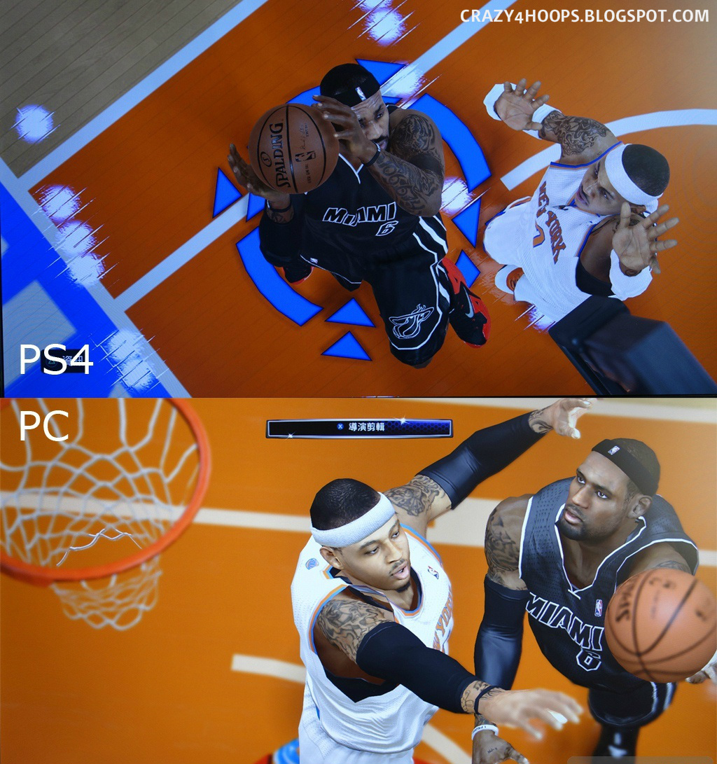 NBA+2k14+PS4+vs+PC+Screenshots+Compariso