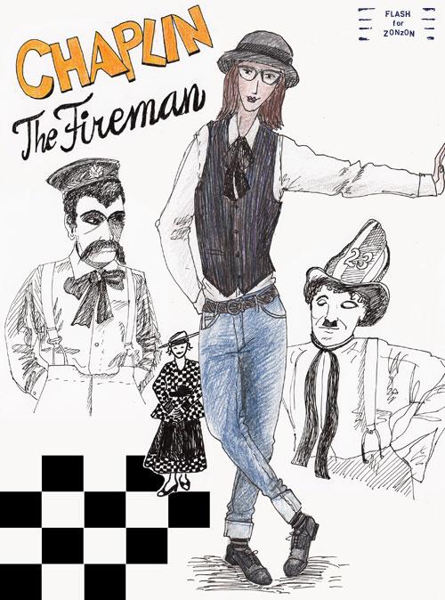 Charley Chaplin The Fireman 1916
