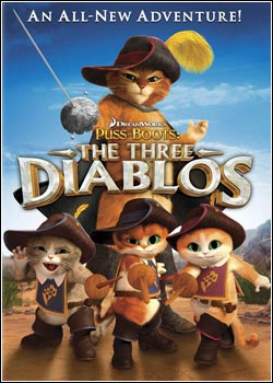 Modelo Capa Download   Gato de Botas   Os Três Diabos   BDRip AVi + RMVB Legendado (2012)