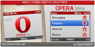 Opera mini c3 theme by zb Download Tema Nokia C3 Gratis