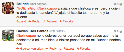 Belinda Y Giovani Dos Santos 2014