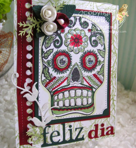 sugar skull card side view