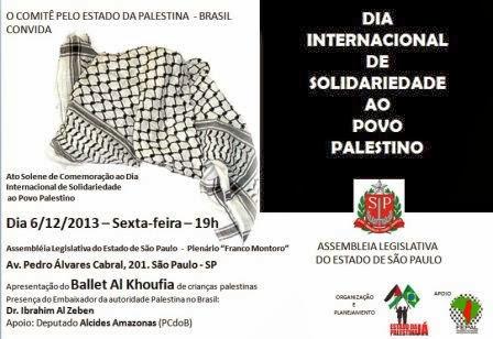Dia Internacional de Solidariedade ao Povo Palestino - São Paulo
