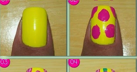tropical flower nail art tutorial  calgary edmonton