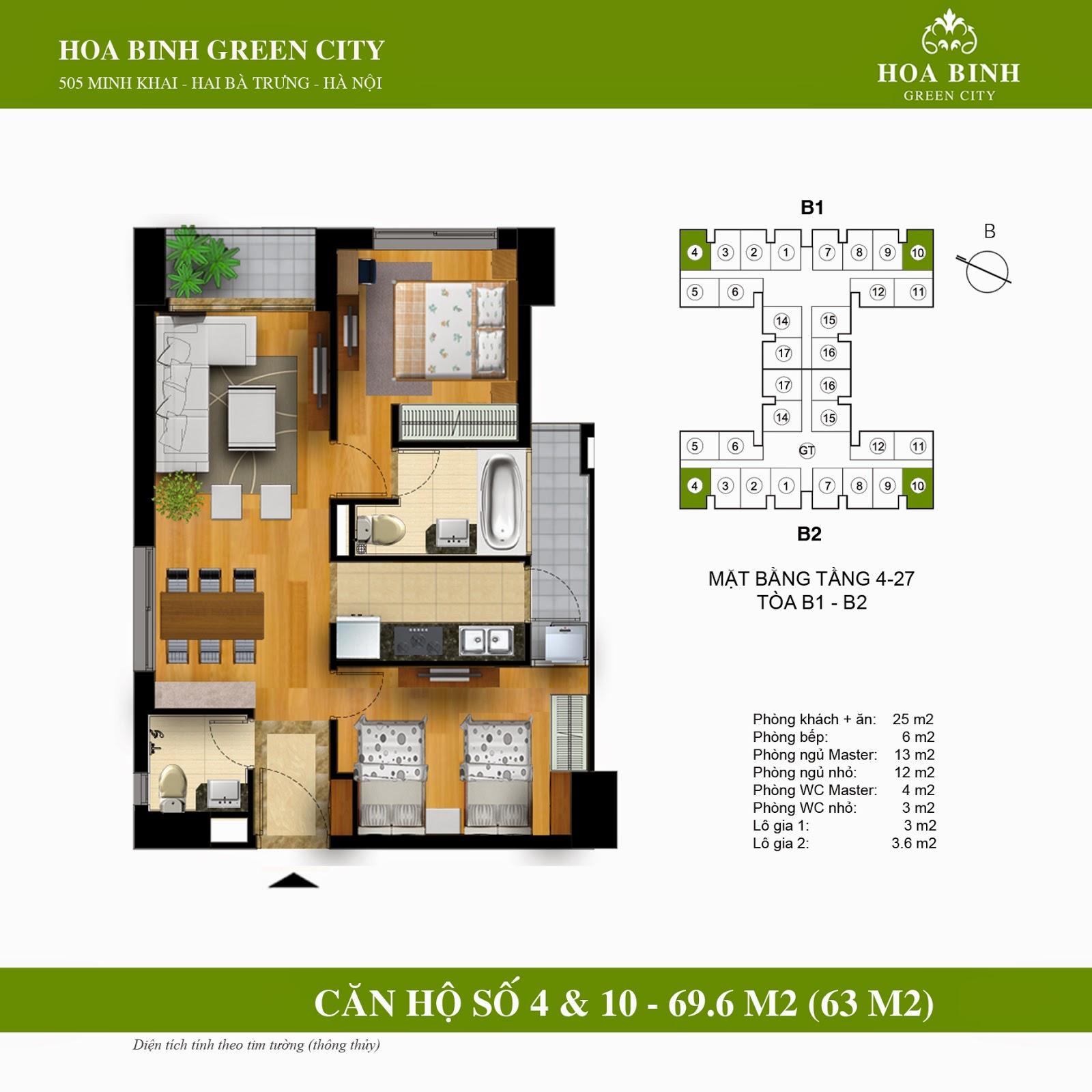Hòa Bình Green City B 69,6m2