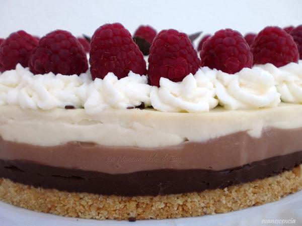 receta fácil de tarta 3 chocolates