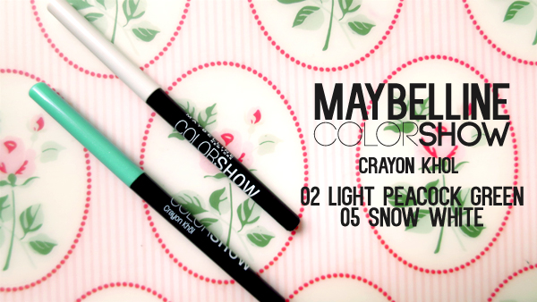 Maybelline ColorShow Crayon Kohl snow white light peacock green