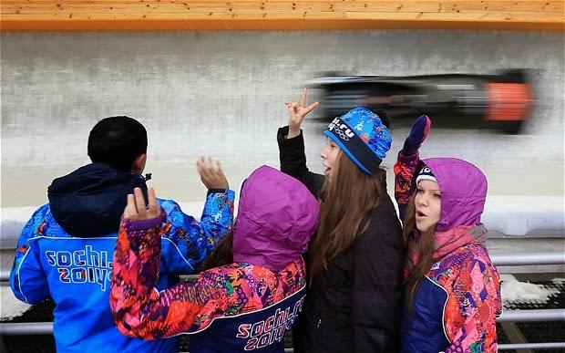 Sochi 2014 fans in Russia