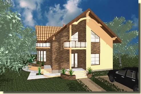Model house collection casa brava plus for Proiecte case cu mansarda 2017