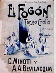 Partitura del tango criollo El fogon