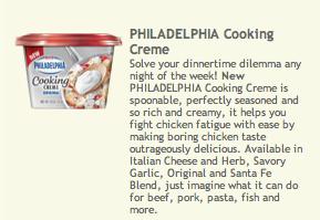 Philadelphia cooking creme coupon september 2018