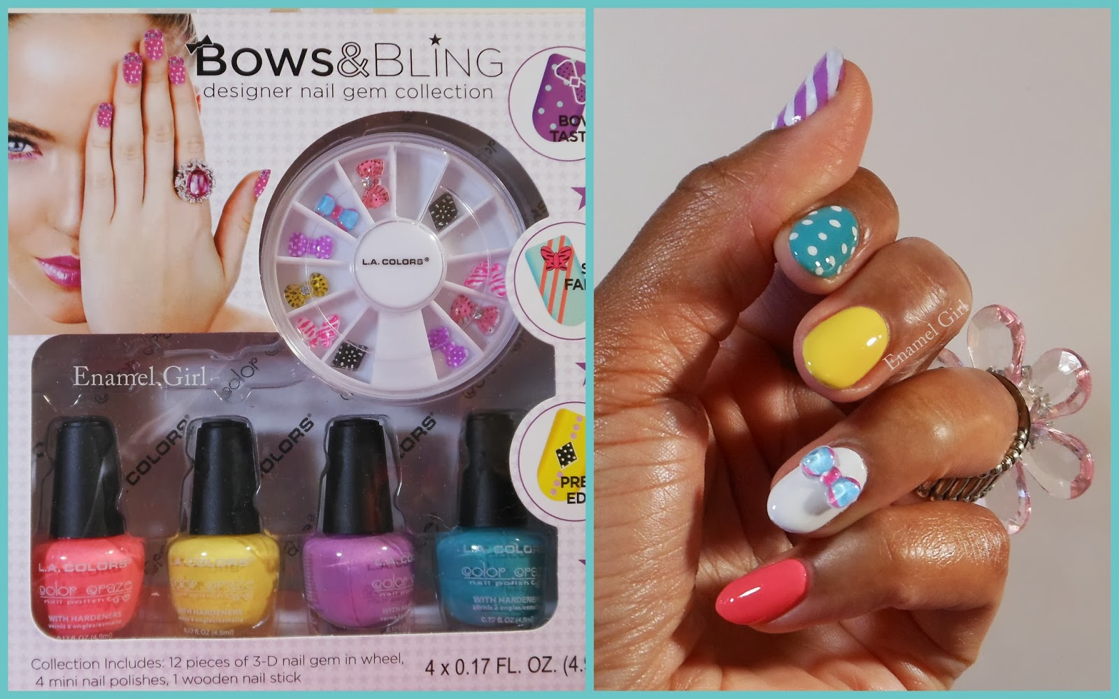 Enamel Girl: L.A. Colors Bows & Bling Nail Art Kit