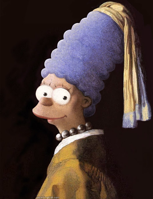  Vermeer Simpson Parody 