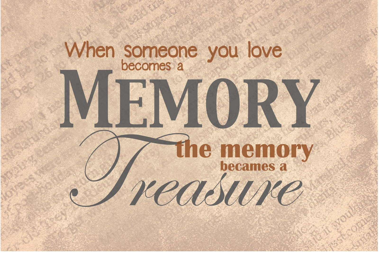 Quotes About Love Memories : Familee Affair: Memories