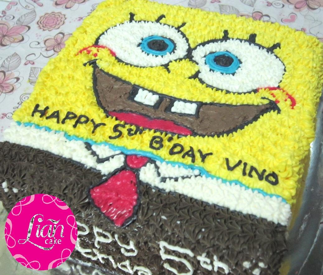 Lian Cake Spongebob Rainbow Cake Orderan Mbak Merlyn