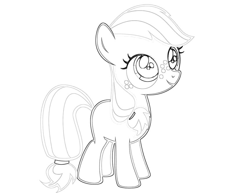 #1 My Little Pony Applejack Coloring Page