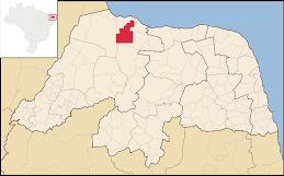 Mapa de Serra do Mel