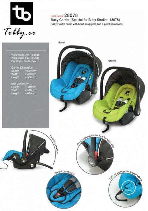 CO CARRIAGEABLE CAR SEAT 28078