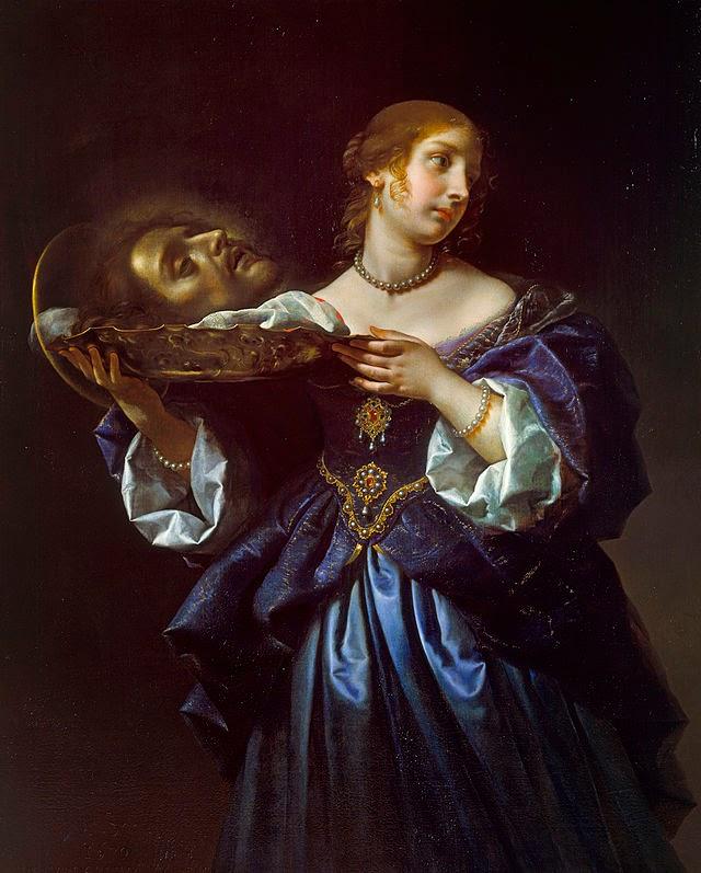 Salomé con la cabeza del Bautista del artista italiano Carlo Dolci